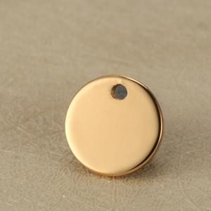 Image 4 - La coutume blanche de pendentifs en acier inoxydable détiquette ronde de 12mm gravent le logo avec la petite quantité