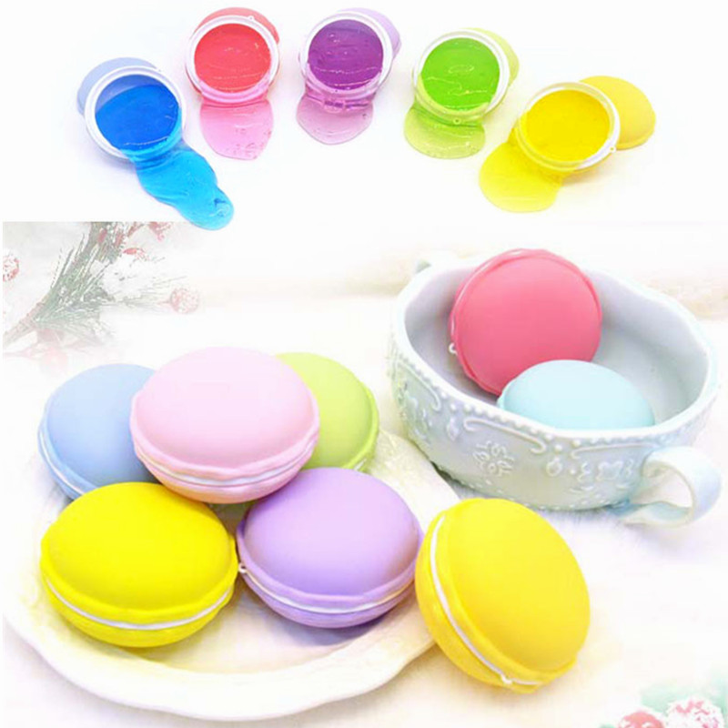 New 6PCS Macaron Slime Macaroon Crystal Clay Rubber Mud Play Dough Intelligent Hand Gum  ...