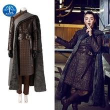цена на Game of Thrones Costume Arya Stark Costume Cosplay Adult Halloween  Christmas Faux Leather  Women Girls