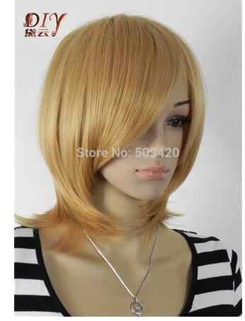 YU mezclado selecto estilo y color sys MISS 002610 mujeres corto cielo recto Cosplay partido anime BOBO peluca completa Venta caliente
