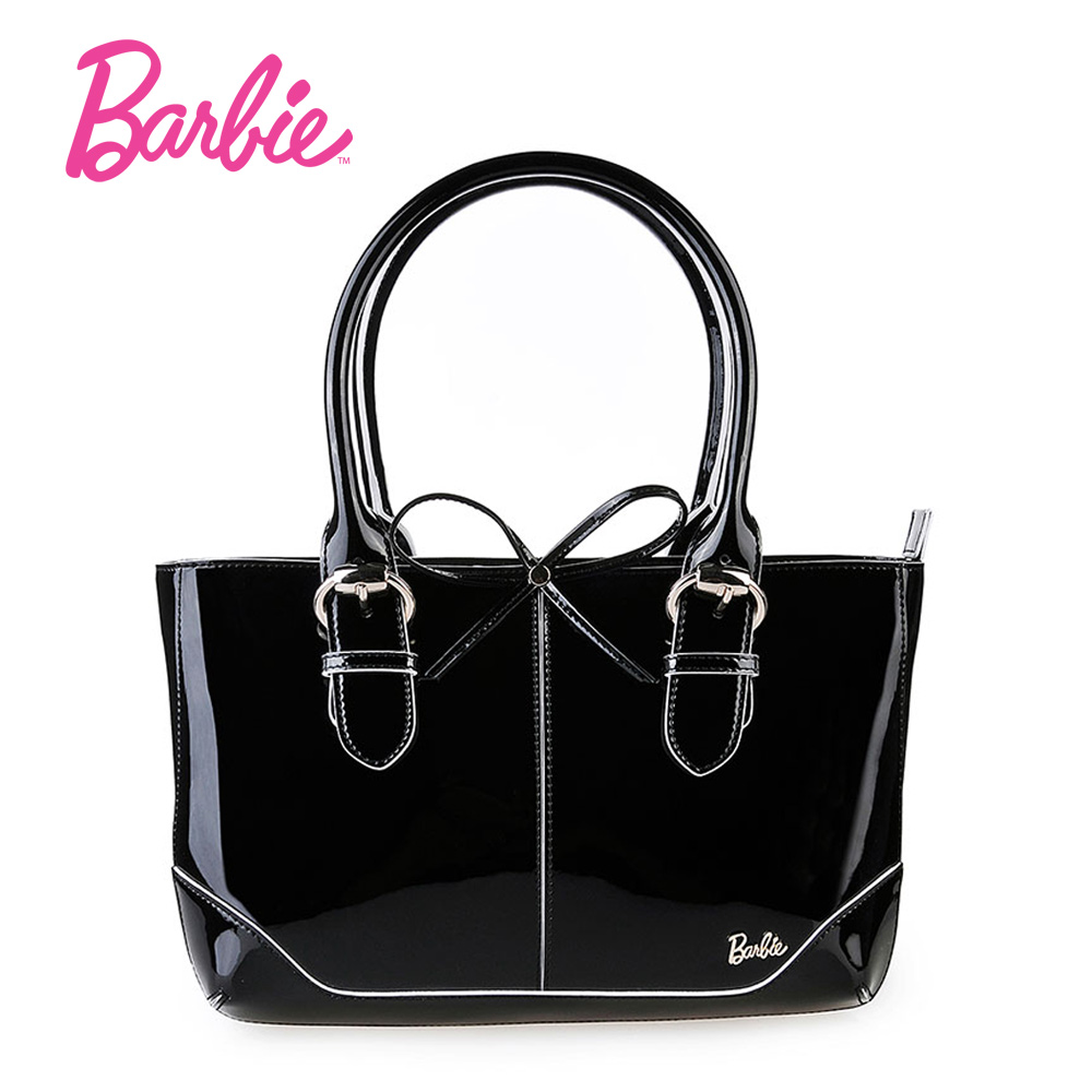 New Arrival Barbie Fashion Women Handbags Shoulder Bags PU Leather Black Top-handle Bags Female Messenger Bag 2017 new female genuine leather handbags first layer of cowhide fashion simple women shoulder messenger bags bucket bags
