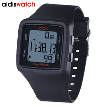 Fashion ladies sports pedometer digital watch waterproof LED student watch multi-function children outdoor watch reloj muje