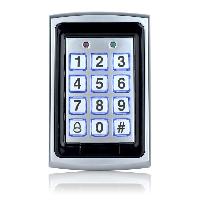 Бесплатная доставка 7612 металлическая Rfid Клавиатура контроля доступа поддержка 1000 пользователей 125 кГц считыватель ID карт Электрический цифровой пароль дверной замок