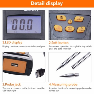 Image 5 - MD7822 Digital Grain Moisture Meter Food Thermometer Humidity Hygrometer Analyzer water Damp Detector Tester