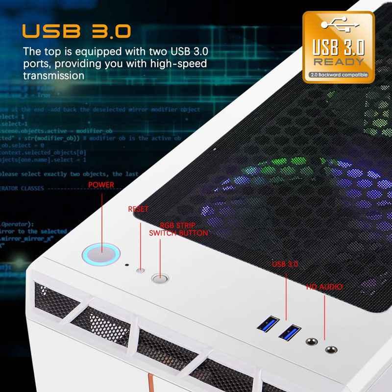 Aigo جراب ألعاب للكمبيوتر ATX حافظات الكمبيوتر مع 120 مللي متر LED قوس قزح مروحة كمبيوتر مكتبي هيكل RGB ضوء حافظة من الزجاج المقسى
