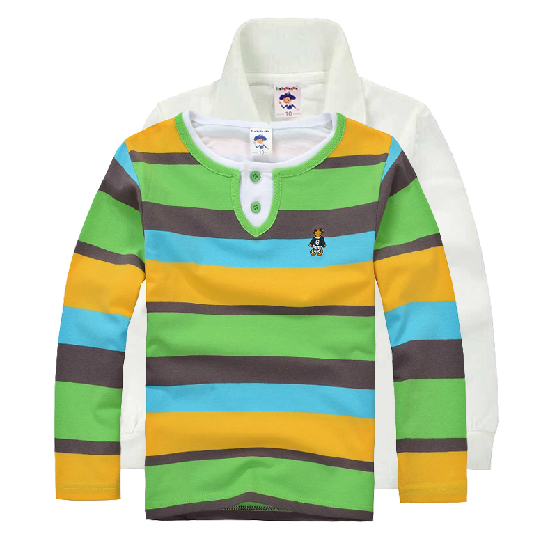 High Quality Boys T-shirt Kids Tees Baby Boy brand t shirts Children tees Long Sleeve Cotton Cardigan Sweater Jacket Shirts