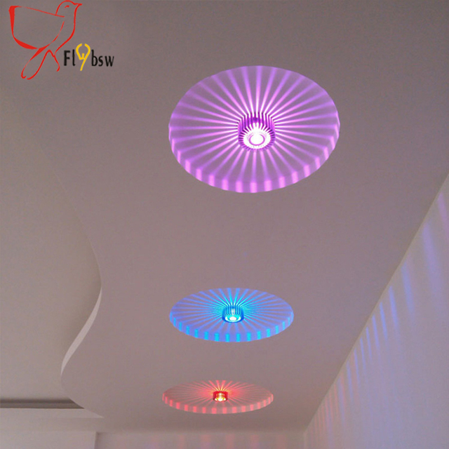 Color changeing LED plafonnier couloir couloir Fond plafonnier creative soleil fleur plafond luminaire avec 3 w.jpg 640x640 5 Superbe Plafonnier Couloir Led Kdj5