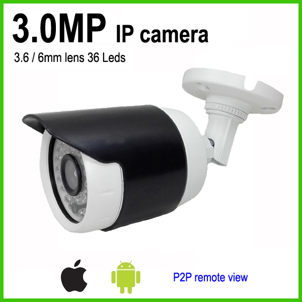 3MP H.265 IP Camera bullet weatherproof outdoor security cctv system 3.6mm lens App for mobile view wistino cctv camera metal housing outdoor use waterproof bullet casing for ip camera hot sale white color cover case