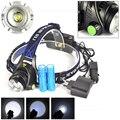 5000LM XM-L T6 LED Zoomable Farol Head Light Torch 2X18650 Bateria + EU + Carregador de Carro