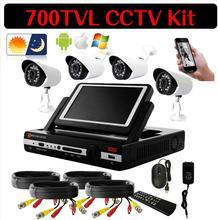 4CH CCTV System DVR HDMI 4PCS 700TVL IR bullet indoor CCTV Camera Home Security System Surveillance Kits