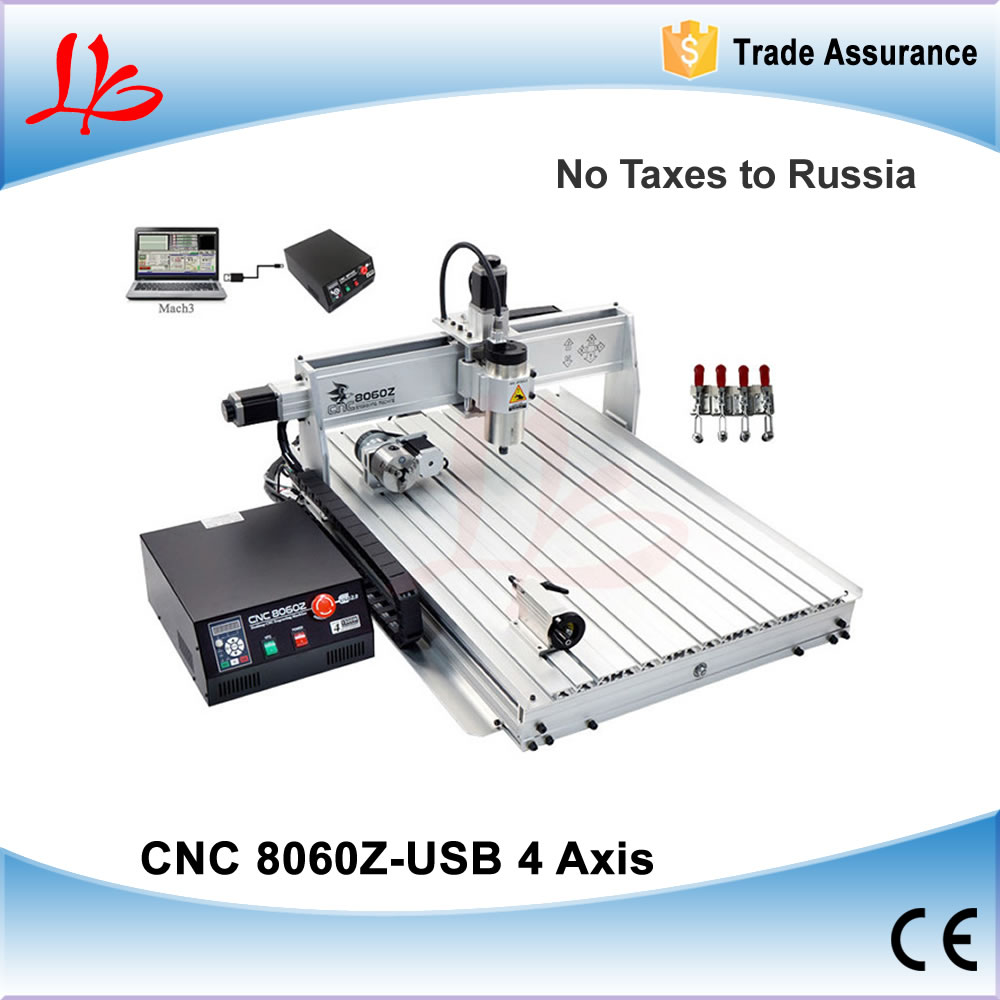 No Tax to Russia & Ukraine, Mini cnc 8060 Z-USB 1500W cnc router with high power air cool cnc spindle cnc engrave machine no tax to eu 2 2kw 8060 cnc machine 3axis metal engraving router 4000mm min with usb port and mach3 remote control