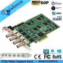 Карта захвата видео PCI Express HD 1080 P-4 канала SDI в реальном времени