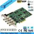Tarjeta de captura de vídeo PCI Express HD 1080 p-4 canales SDI en tiempo Real