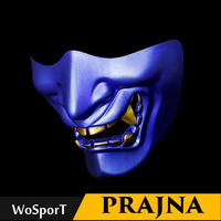 Airsoft Paintball Mask Goggles Hannya Mask Halloween Mask Army Of 2 BB Gun Paintball Prajna Mask