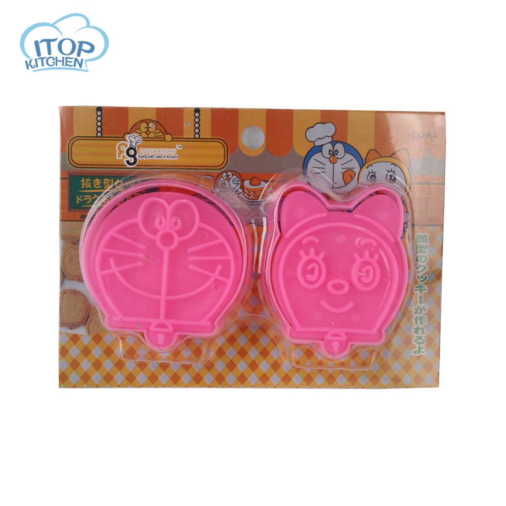 ITOP Doraemon Cookie mold Pokonyan cat Cookie Fondant Cake Sugarcraft Choco Decorating P ...