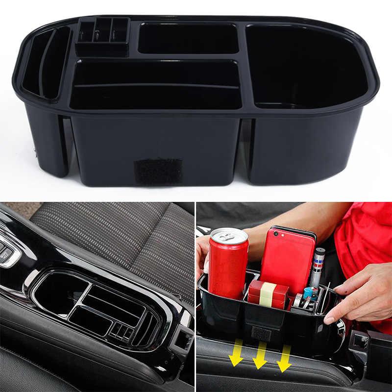Honda Vezel HR-V HRV 자동차 센터 콘솔 박스 오거나이저 식품 트레이 음료 홀더 용 멀티 컴 파트먼트 보관함