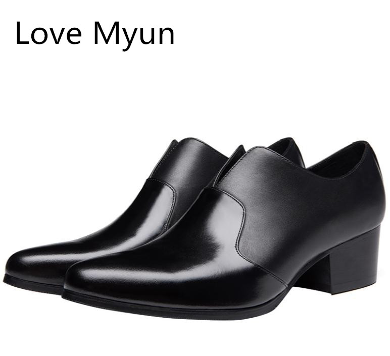Mens pointed toe patent leather dress shoes high heels fashion design height increase career work dance shoes men wedding shoesMens pointed toe patent leather dress shoes high heels fashion design height increase career work dance shoes men wedding shoes