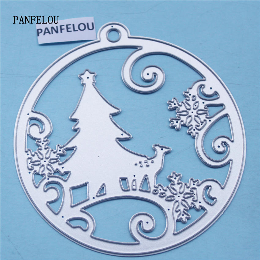 PANFELOU Metal craft Circle the snow paper die cutting dies for Scrapbooking/DIY Christmas wedding Halloween Greeting cards