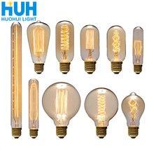 Винтаж Эдисон лампы e27 40 Вт ретро накаливания Эдисона Светильник