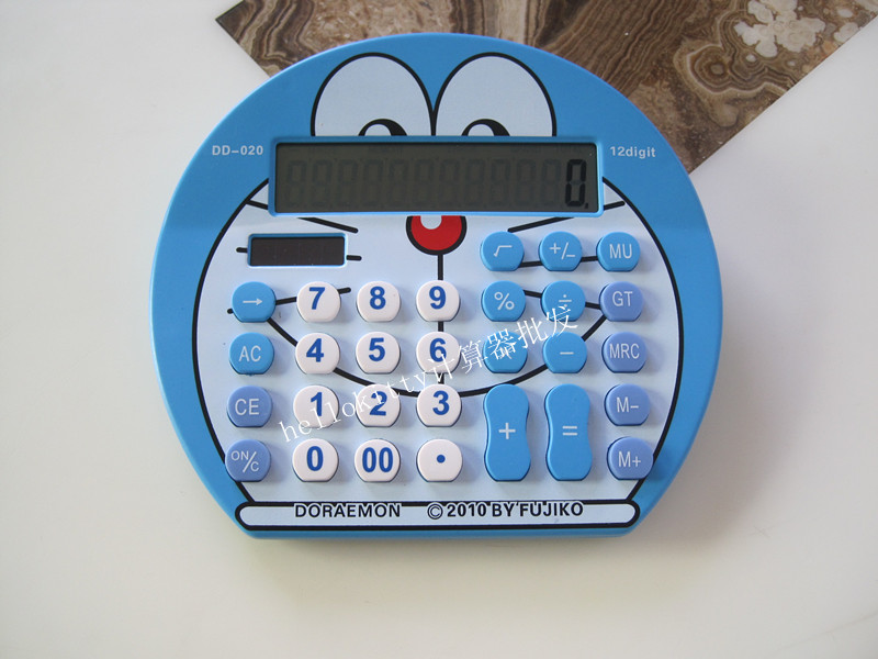 Hot sale new Cute Doraemon solar font b Calculator b font 12 Digits font b Calculators