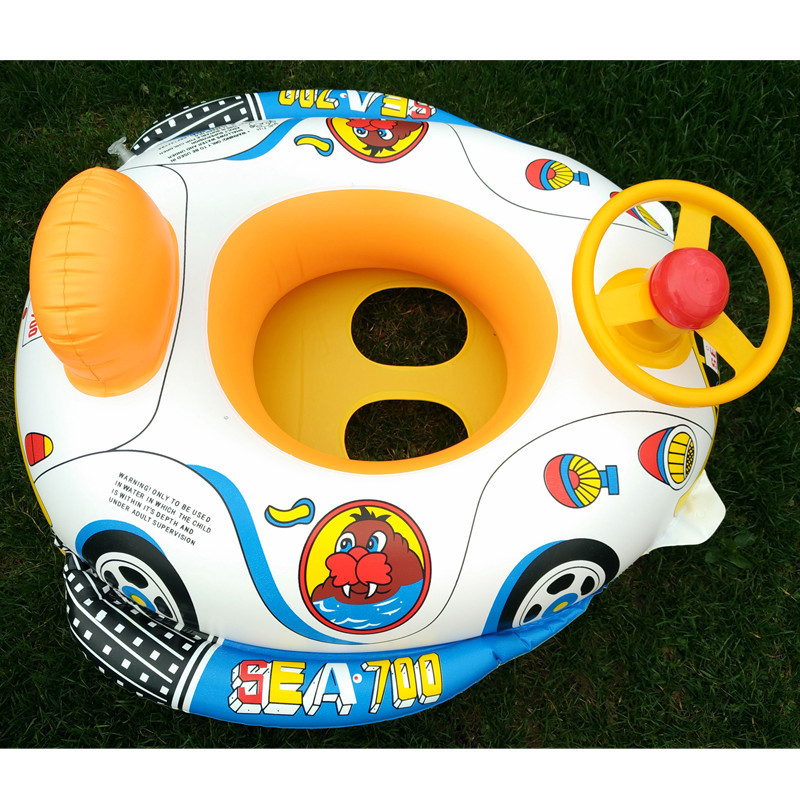 Swimming circles, inflatable swimming rings, automobile horn boats, floating boats, PVC children swimming seat rings.
