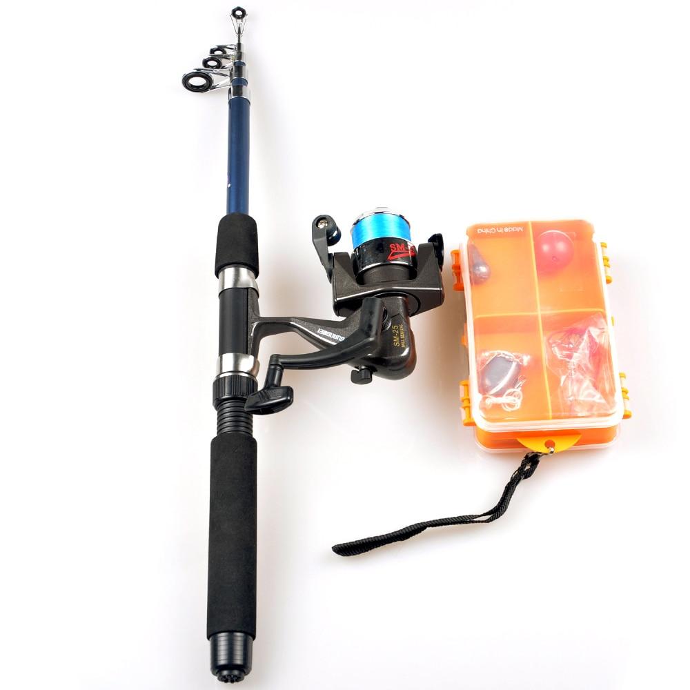 1.8m Telescopic Spinning Rod Fishing Reel Combo Full Fishing Set High Quality Carp Fishing Tackle Gear Hooks Lure Kit Pesca