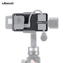 Ulanzi PT-6 Switch Mount Plate Vlog Plate with Mic Adapter for GoPro Hero 7/6/5 for DJI/Moza Mini S Phone Gimbals accessories(China)