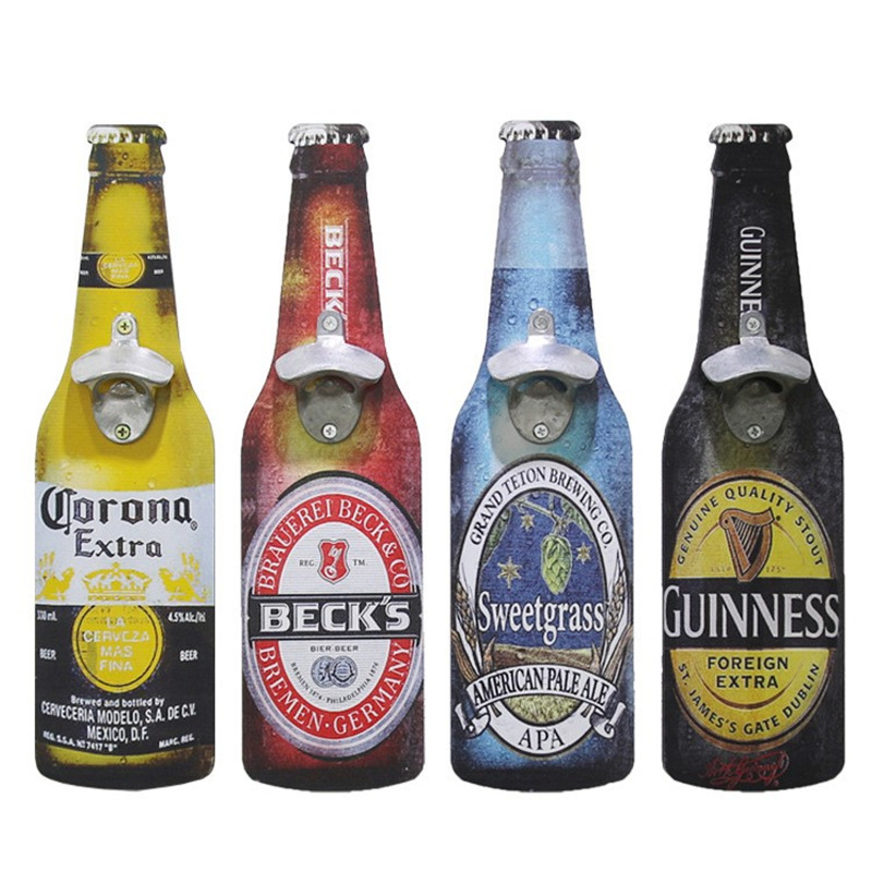 Creative Retro Beer Bottle Opener Exquisite Beautiful Practical Multi-scene Suitable For Decorative Eco-Friendly Wall Hangings