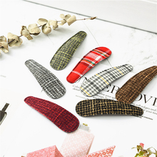 NEW Fashion Sell well English cloth style women BB Barrettes long  Hairpins for girls Hair clips accessories