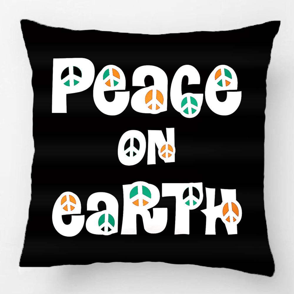 Peace On Earth Christmas Throw Pillow Case Decorative Cushion Cover Pillowcase Customize Gift By Lvsure For Car Sofa Seat
