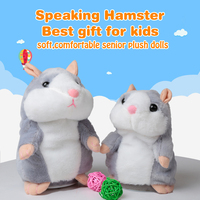 Cute Walking Russian Talking Hamster Wooddy Time Stuffed Plush Animal Dolls Speaking Kid Educational Toy Repeat