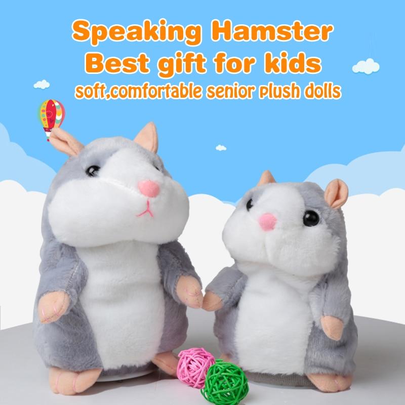 Cute Walking Russian Talking Hamster Wooddy Time Stuffed Plush Animal Dolls Speaking Kid Educational font b