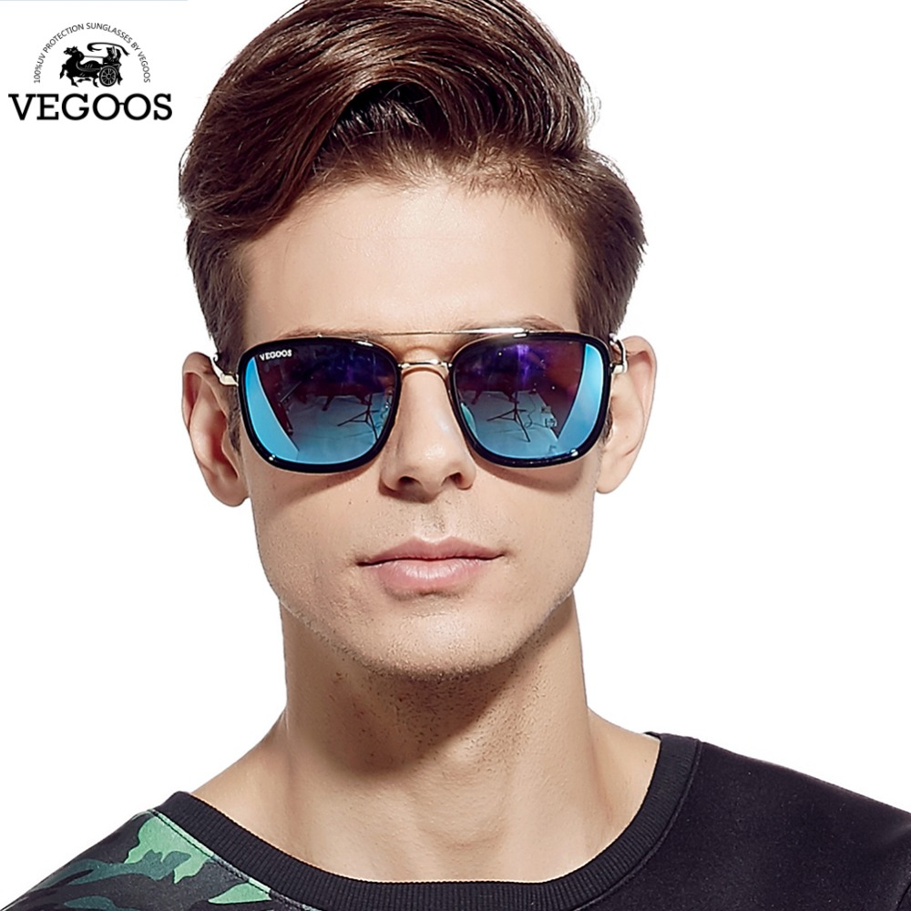 cheap stylish glasses df51  VEGOOS Brand Designer Men and Women Sunglasses Square Style Mirrored Lenses  Eyewear For Men's Unisex Sun