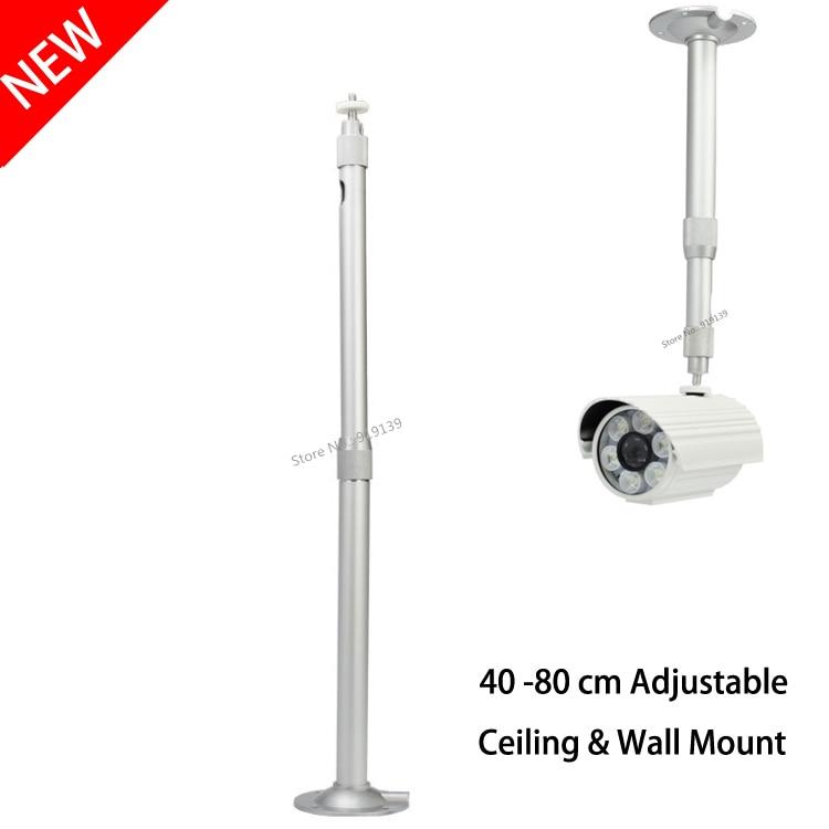 Алюминиевый серебристый потолочный кронштейн 40-80 см, расширительный настенный кронштейн для UNIC Excelvan XGIMI JMGO YG400 YG300 DLP проектор CCTV камера