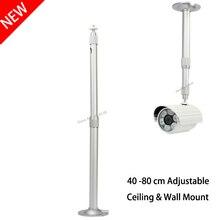 Haute Qualité En Aluminium Argent Montage Au Plafond Support Mural Bon En Utilisant pour Mini DLP LED Projecteur CCTV Caméra 40 à 80 cm l'expansion