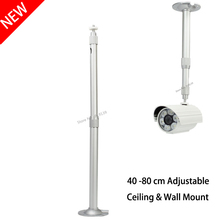 High Quality Aluminum Silver Ceiling Mount Wall Bracket Good Using For Mini DLP LED Projector CCTV Camera 40 to 80cm Expansion