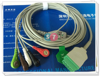 GE Marqutte 11pins One Piece Ecg Cable 5 Leadwires AHA Standard