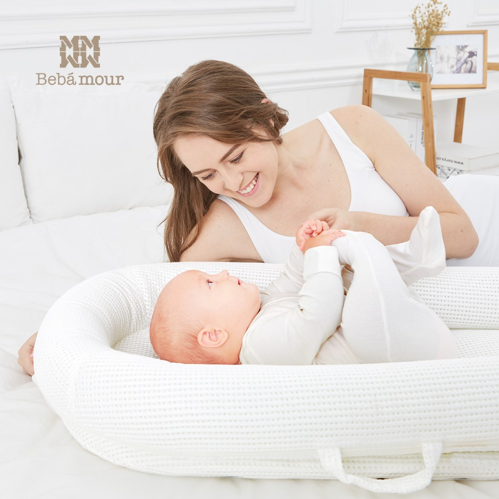 Bebamour New Bionic Baby Crib Washable Breathable Travel Bed Portable 3D Bionic Crib Mattress for Newborn Babies cute baby crib 4pcs portable comfortable babies pad with sealed mosquito net mattress pillow mesh bag newborn sleep travel bed