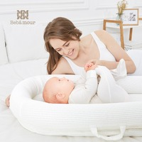 Bebamour New Bionic Baby Crib Washable Breathable Travel Bed Portable 3D Bionic Crib Mattress for Newborn Babies