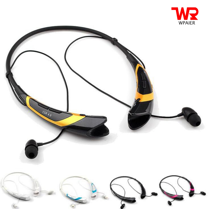 WPAIER HBS-760 Wireless Bluetooth headphones outdoor sport portable bluetooth headset Vibration stereo earphone Universal HBS760 remax 2 in1 mini bluetooth 4 0 headphones usb car charger dock wireless car headset bluetooth earphone for iphone 7 6s android