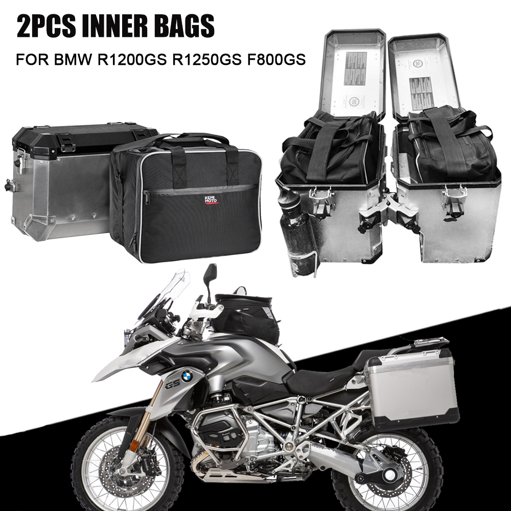 For bmw f800gsa Motorcycle luggage bags Black expandable Inner Bags For BMW R 1200 GS adventure