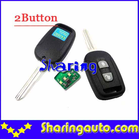 Free shipping  2 Button Remote Key with 433mhz 7936 chip for chevrolet Captiva(1piece) free shipping 2 button remote key hu87 blade with id46 chip 433mhz for suzuki swift yy 1piece