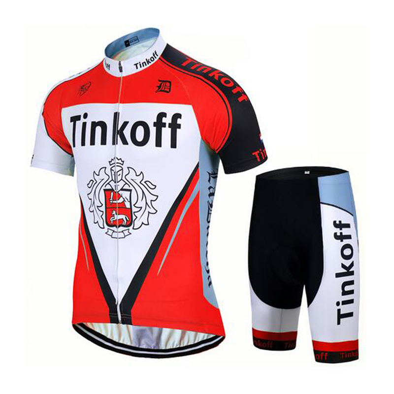 d93a8d01e Tinkoff saxo bank 2018 Red Short Sleeve Breathable Cycling Clothing Tour de  France Team Cycling Jersey Maillot Ciclismo+Gel Pad