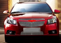 For Chevy Cruze 2009 2013 Front Grill Grille Grid Insert Grid 3PCS