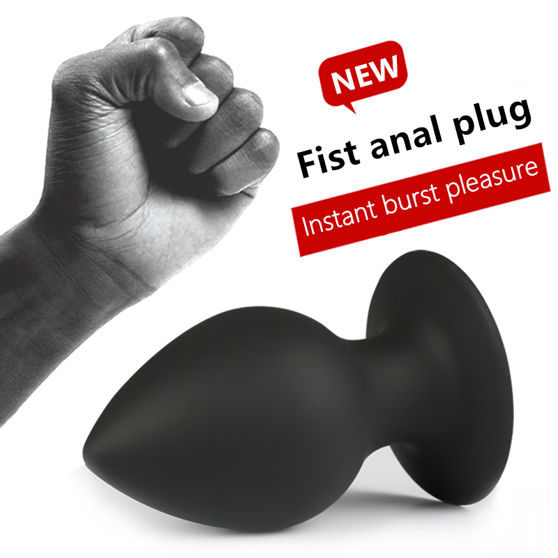 silicone butt plug big fist anal plug silicone dildo anal butt plug strong sucker sex products gay adult sex toys for men