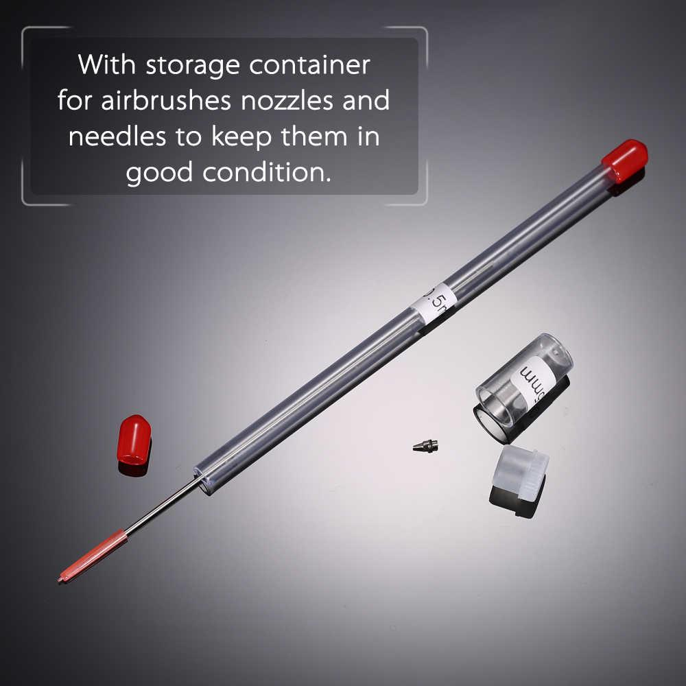 0.2mm Airbrush zamiennej dyszy i igły do pistoletów natryskowych pistolet natryskowy Model rozpylania farby narzędzie do konserwacji akcesoria