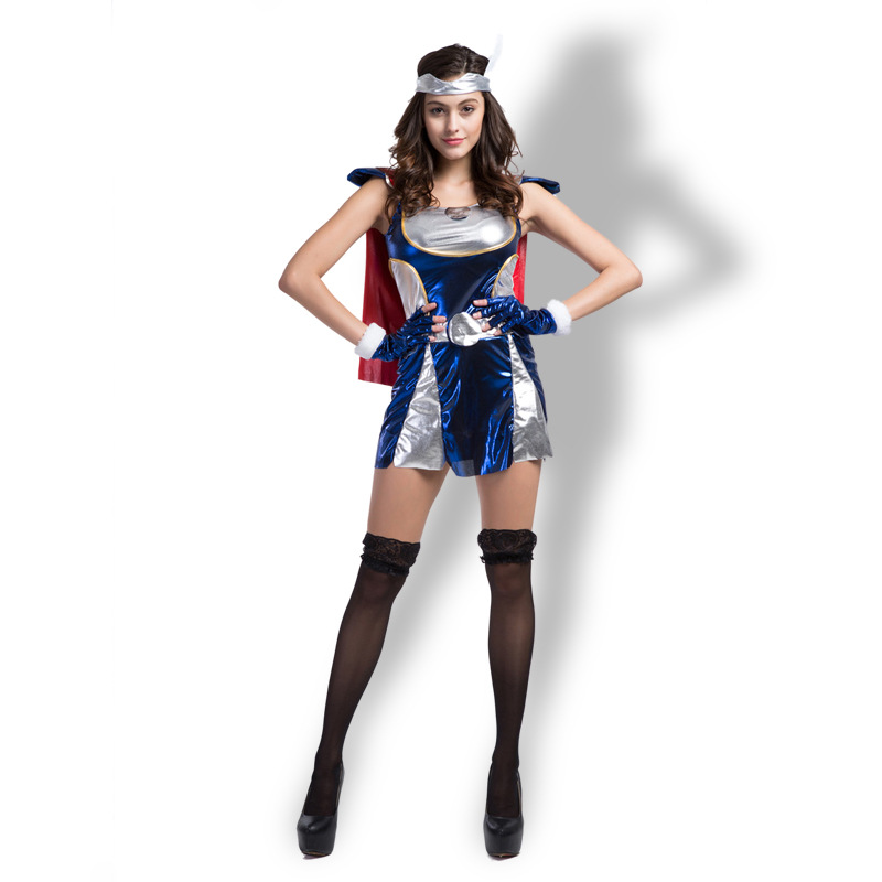 Cosplay Luxurious Woman Super Hero Erotic Sexy Uniform Temptation Evening Party Witch Costume Thor Costume N35860