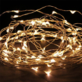 12 V 5 M 50LED Fio de Prata Estrelado Iluminação Festa de Casamento Luz Da Corda de Fadas