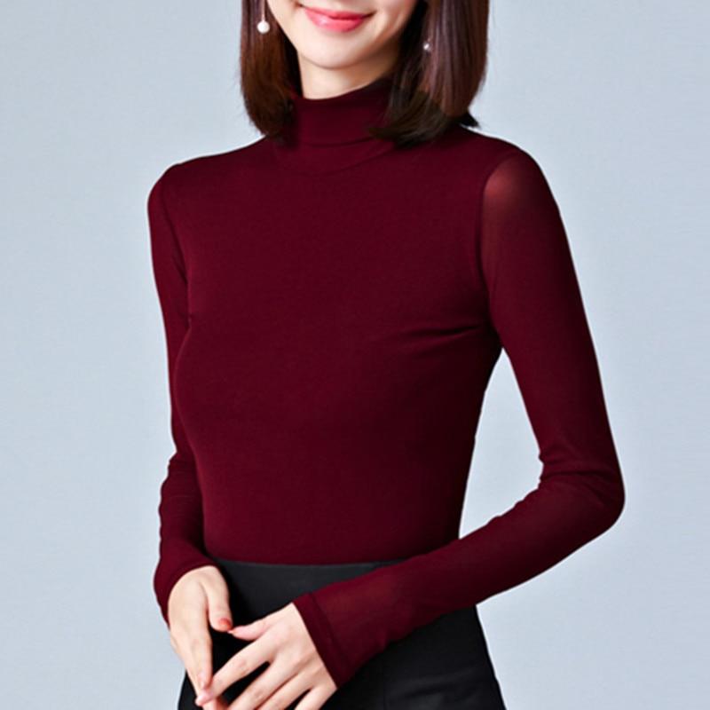BIBOYAMALL Women Blouses 2017 Autumn Lace Blouse Slim Blusa Feminina Tops Fashion Chemise Femme Shirts Plus Size 4XL Pink Black