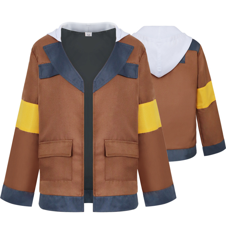 Adult  Lance Cosplay Jacket Voltron: Legendary Defender Cos Hoodied Brown Unisex  Daily Coat Halloween Carnival Costumes